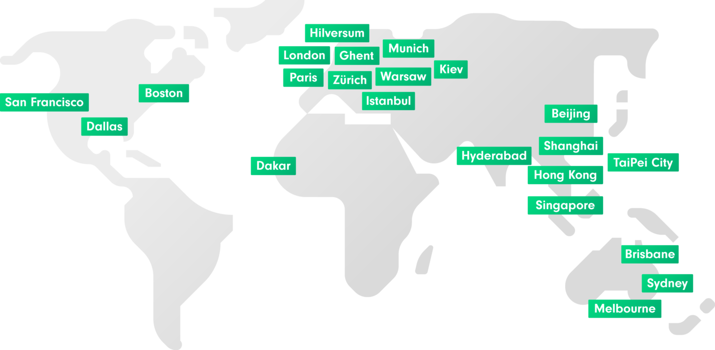 Illustration Cubewise offices map green 3