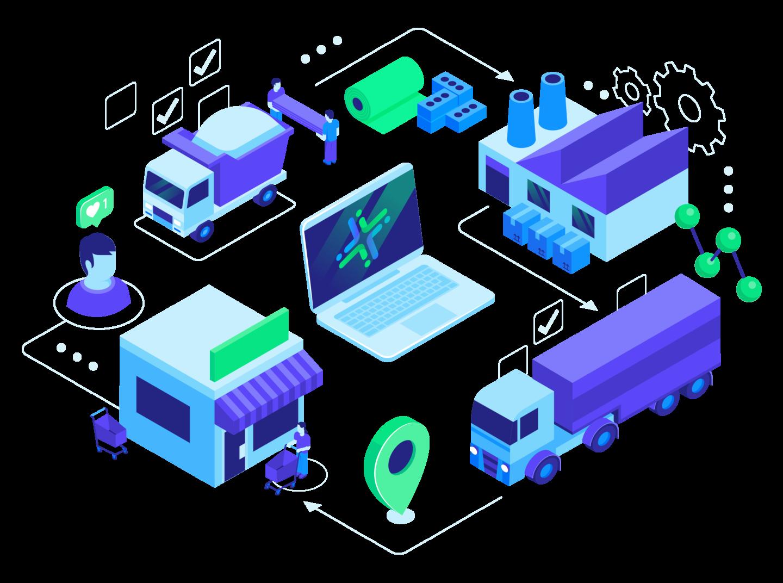 Illustration Supply Chain Management